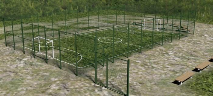 3D модель будущей спортплощадки в Вишнёвой балке